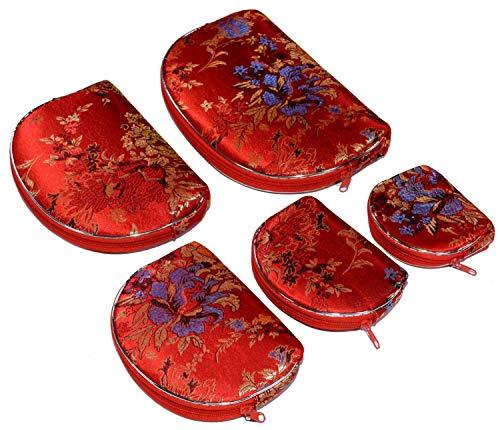 Bees Knees Fashion Diseño bordado flores rojas azules