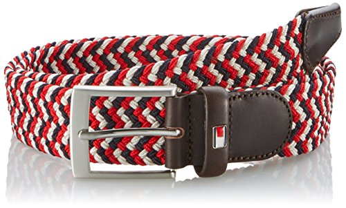 Tommy Hilfiger Adan Belt, Cintura Uomo, Mehrfarbig (Rio Red-PT/Multi 622), 110 cm