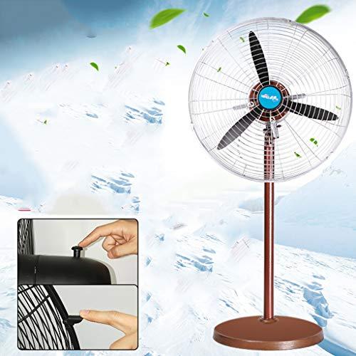 Ventilador de pie oscilante industrial en el pedestal, diseño retro del metal del vintage, fan derecha...