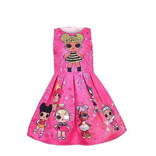 OL Rock Tutu Kleinkind Kinderkleidung Geburtstagsgeschenk Party Kostüm Alter 3-8 Jahre,Rosered,140cm ()