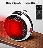 Mini Termoventilatore Portatile Ventilatore Elettrico Riscaldatore a Parete con (Bianco 2)