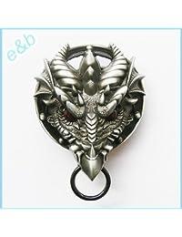 E & B Herren Gothic Dragon Rot Augen Gürtelschnalle 3d016One Size farbigen