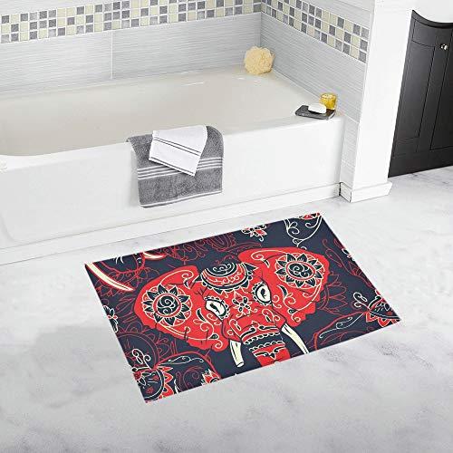 LMFshop Tag tot bunten Zuckerschädel indische benutzerdefinierte rutschfeste Badematte Teppich Bad Fußmatte Boden Teppich für Badezimmer 20 X 32 Zoll