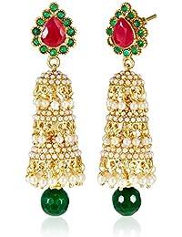 Aheli Jhumki Earrings for Women (Multi-Colour)(A4E26)