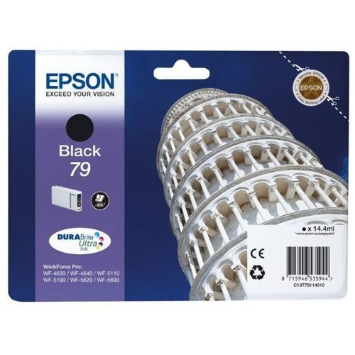 Epson 79 Serie Torre, Cartuccia Originale Getto d'Inchiostro DURABrite Ultra, Formato Standard, Nero, con Amazon Dash Replenishment Ready