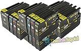 The Ink Squid 4 Sets von Hp950Xl und Hp951Xl dreifarbig und schwarz - hohe Kapazität - Tintenpatrone kompatibel mit Hp vonficejet Pro 8100 8600 8600 Plus und 8600 Premium