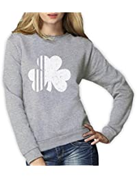 Green Turtle T-Shirts Saint Patrick's Day Irish Shamrock Four-Leaf Clover Women Sweatshirt