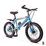 Vélo étudiant vélo à Une Vitesse VTT Fille de vélo Fille de vélo 18 Pouces 20 Pouces, Cadre en Acier à Haute teneur en Carbone (Color : B, Size : 18inches)