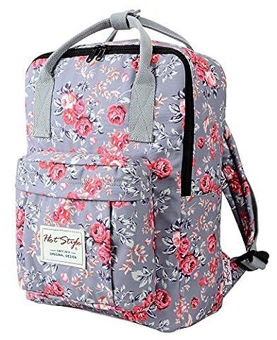 HotStyle BESTIE Klein Rucksack für College (37x27x14cm) - Hält 13,3-Zoll Laptop - Rose