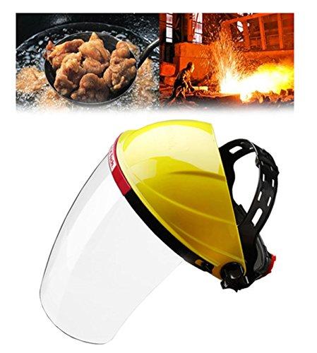 Einstellbare klare Gesichtsmaske Schild Visier Sicherheit Arbeitskleidung Augenschutz - ideal für Gartenarbeit Kochen Öl Spritzwasser