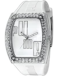 Puma Time Drama Injection White - Stones PU910712001 - Reloj para mujeres, correa de goma color blanco