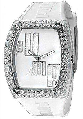 Puma Time Ladies Watch Analogue Drama Injection White – Stones Quartz Rubber PU910712001