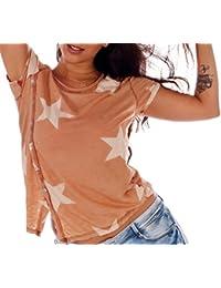 Shirt Star and Button Design Halbarm Einheitsgroesse 34 - 38