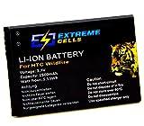 Extremecells  batterie hTC wildfire legend evo 4 g (g6) bA-s420 g8 buzz a3333–3,7 a6363