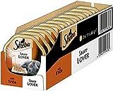 Sheba Adult Katzen-/Nassfutter, für erwachsene Katzen Sauce Lover, mit Ente in Sauce, 22 Schalen (22 x 85 g)