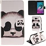 Ooboom® Samsung Galaxy A5 2016 Coque PU Cuir Flip Housse Étui Cover Case Wallet Portefeuille Supporter Stand Porte-cartes Dragonne pour Samsung Galaxy A5 2016 - Panda