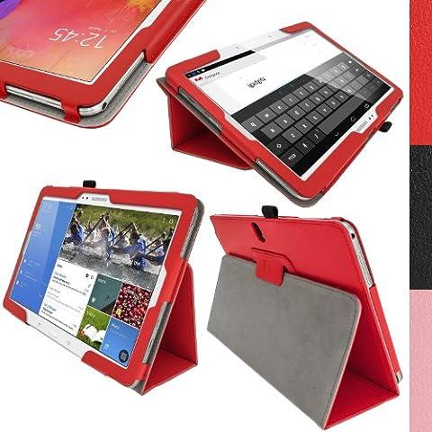 igadgitz Premium Folio Rouge en Cuir PU Étui Housse Case Cover pour Samsung Galaxy TabPRO 10.1