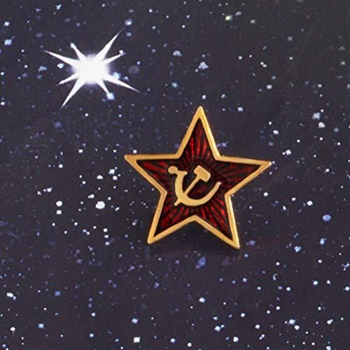 Und Sichel Hammer Kostüm - JTXZD Brosche Roter Stern Hammer Sichel Kommunismus Emblem Sowjetunion Symbol UDSSR Pin Kalten Krieges Patriotismus Revers Pin Kleidung Hut Mantel Zubehör