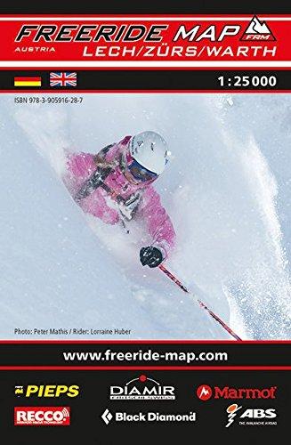Freeride Map Lech / Zürs / Warth: Maßstab 1:25 000