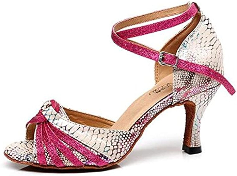 Frauen Schuhe Ballsaal Lateinisch Taogo Tanzpumpen Serpentin Sandalen Größe 35 To41
