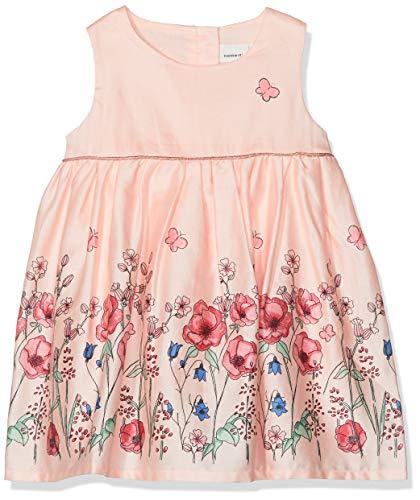 NAME IT Baby-Mädchen NBFFALLYN Spencer Kleid, Rosa (Strawberry Cream), (Herstellergröße: 56) (Kleid Baby Für Rosa)