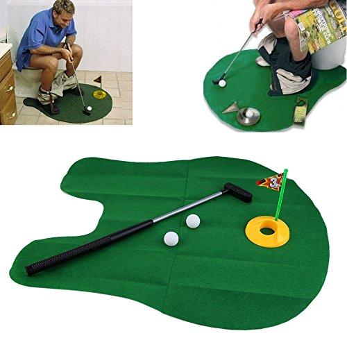 JasnyfallFunny Töpfchen Putter WC Zeit Mini Golf Spiel Neuheit Gag Geschenk Spielzeug Mat