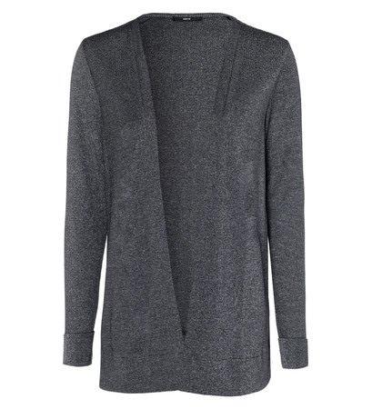 zero Damen Jersey Cardigan im Glitzer-Look 306735 anthracite-m 38
