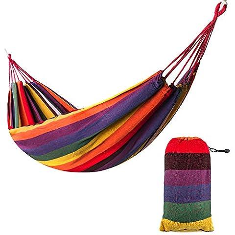 Xiyoyo Hammock Colorful Rainbow Cotton Soft Supreme Comfort Fabric Woven
