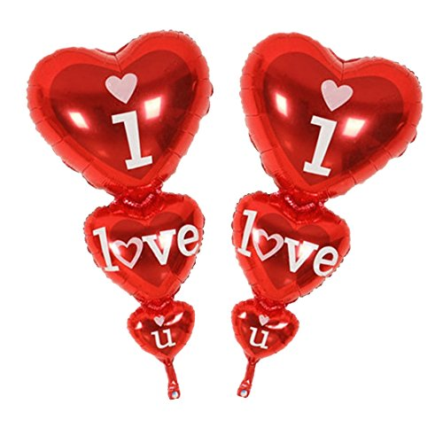 Baloon I Love You Ang Happy Day Balloons Party Decoration Heart Engagement Anniversary Weddings - Balloons Decorations Invitations Centerpieces Animals Favors Balloon ()