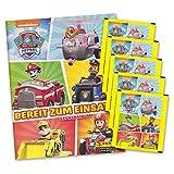 Paw Patrol Bereit zum Einsatz Sammelset Album + 5 Booster Tütchen - 25 Sticker deutsche Ausgabe