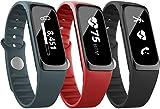 Striiv Fusion Bio Aktivity Tracker & Smartwatch mit Pulsmessung, Touchscreen, gehärtetes Ion-Glas, OLED-Display, 3 verschiedene Armbänder