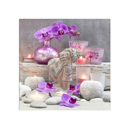 Focus Stickerei 5D DIY Blume Buddha Zen-Kreuz-Stich-Harz-Diamant-Malerei Bild Drill-Dekoration-Geschenk