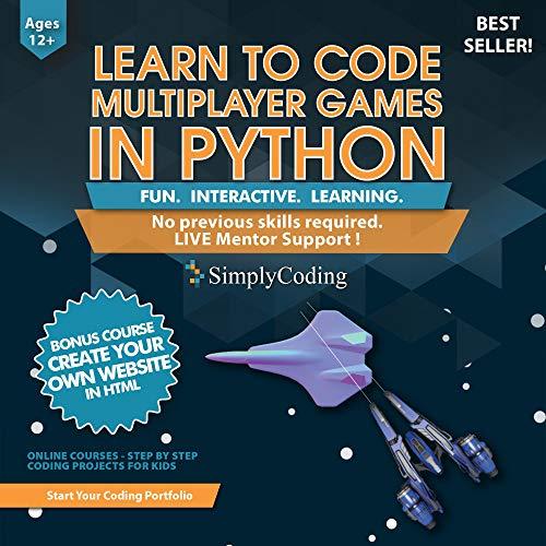 Lernen Sie PYTHON für Multiplayer-Abenteuer ab 12 Jahren - Programmierung und Videospiel Design für Kinder - Software und Computercodierung - besser als Minecraft Mods - (PC, Mac und Linux)