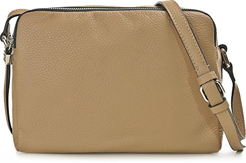 GIANNI CHIARINI, Damen Leder Umhängetaschen, Crossbody Bag, Schultertaschen, Leder, 26 x 19 x 11 cm (B x H x T), Farbe:Braun
