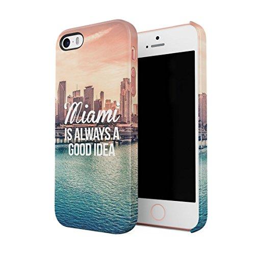 od Idea Urlaubs Plan Chilling Under Miami Sonne Dünne Rückschale aus Hartplastik für iPhone 5 & iPhone 5s & iPhone SE Handy Hülle Schutzhülle Slim Fit Case Cover ()