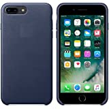"""AUDOS Premium Leather Back Cover Case For Apple iPhone 7 Plus (5.5"""") (Midnight Blue)"""