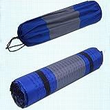 perfk Tragbar Luftmatratze, Aufblasbare Isomatten, Camping Schlafmatte, 188 x 60 x 2.5cm - Blau