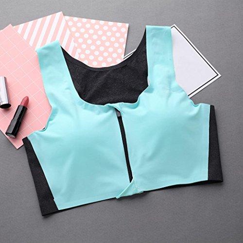 Toamen Brassiere Sport FemmeSoutien-gorge Rembourré Zipper Séchage rapide Sports/Yoga Taille Libre Bleu