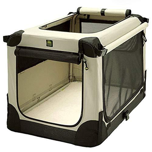Autotransportboxen Hundetransportbox Hinterer Hundekäfig For Auto, Wasserdichter Hinterer Sitzschutz, Autositz-Haustier-Hundekäfig (Color : Beige, Size : 52 * 33cm)