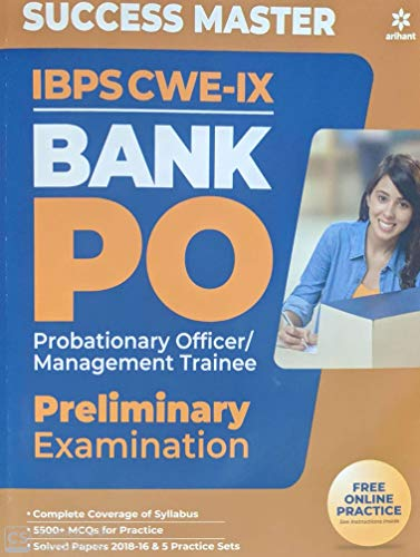 Success Master IBPS CWE-VIII Bank PO (PO/MT) Preliminary Examination2019