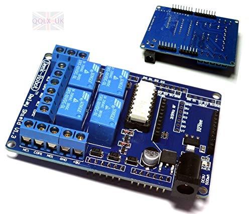 Generic Shield 9 V F Modul Shield RF C 4 Mechanische Relais 433 MHz ay 9 V für D 9 V für A 70 W DC 4 315 433 MHz RF Arduino UNO R3 XBEE Rf Shield