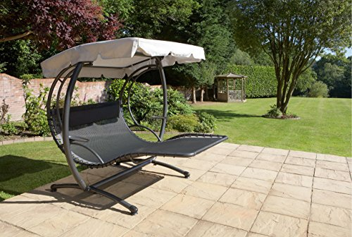 jarder two seater luxury swing seat bed sun lounger patio garden furniture with canopy garden rattan furniture