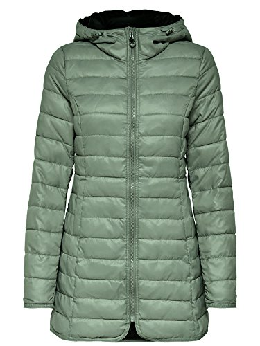 Only Damen-Mantel Tahoe Coat Übergangsjacke Freizeitmantel, Farbe:Grün, Größe:XS (Tahoe-jacken-mantel)