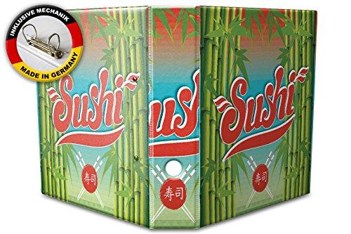 Raccoglitore a4 a 2 anelli 60mm stampato giappone sushi