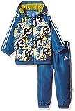 adidas Jungen Hooded Joggingsanzug Trainingsanzug, Corblu/Eqtyel/Cblack, 104