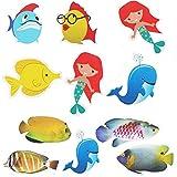MAIYADUO 10x Anti-Rutsch Sticker für Badewanne, Dusche und Bad, selbstklebend. Antirutsch Aufkleber