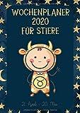 Wochenplaner 2020 für Stiere: Sternzeichen Terminplaner | Kalender für Stier-Geborene | A4 | 1 Woche auf 2 Seiten | viel Platz für Skizzen, Termine, Aufgaben, Notizen