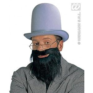widmann-wdm1640z disfraz Adulto de hombre, Gris Negro, wdm1640z
