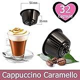 32 Kapseln Cappuccino Caramel Kompatibel mit Nescafe Dolce Gusto - Lösliches Getränk Kompatibel mit Dolce Gusto Kaffeemaschine