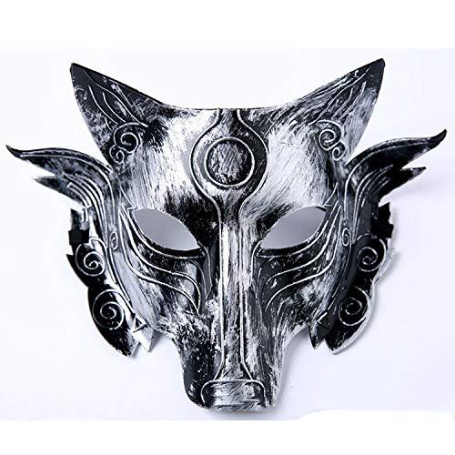 een Dekoration Werwolf Maske Horror Horror Lustige Wolf Kopf Maske Halloween Lieferungen,B ()